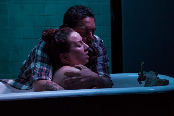Katy Sullivan & Felix Solis in Cost of Living at The Fountain Theatre.