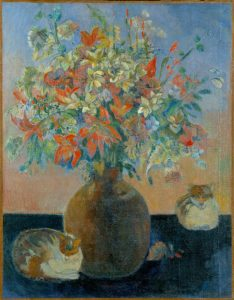 Paul Gauguin, Flowers and Cats, 1899, oil on canvas, Ny Carlsberg Glyptotek, Copenhagen; photograph by Ole Haupt, (c) Ny Carlsberg Glyptotek