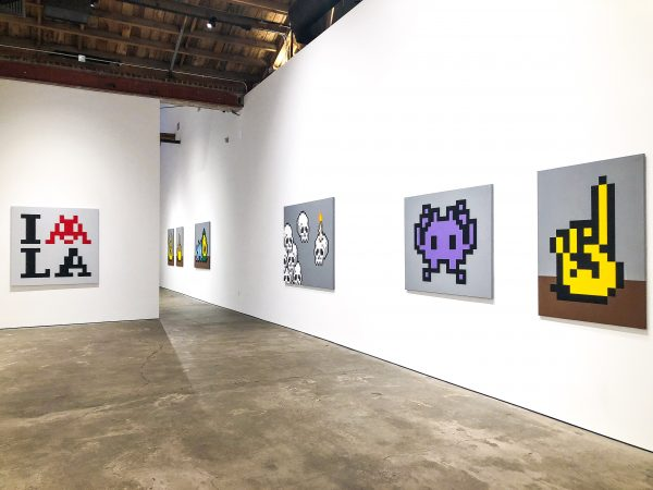 Invader's Into The White Cube (Photo by James L Chapman)