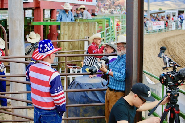 Photographer Jim Storm; Rodeo; Gunnison,; Colorado; 2018; Photograph by Valerie Pronio-Stelluto