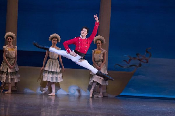 "Tigran Sargsyan in Los Angeles Ballet's ""Nutcracker"". Photo by Reed Hutchinson."