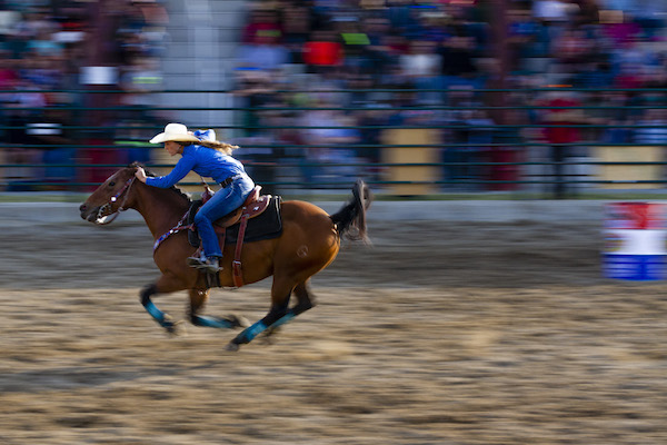 Rodeo; Cowgirl; Barrel Racer; Photo by Jim Storm