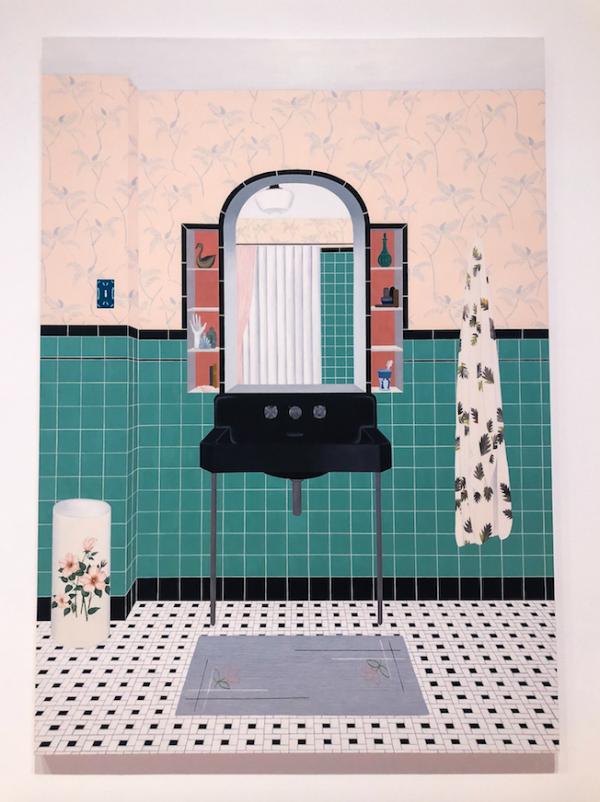 Bathroom (Ming Green) 2016 - Becky Suss (photo credit: James Chapman)