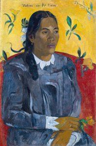 Paul Gauguin, Tahitian Woman With a Flower, 1891, oil on canvas, Ny Carlsberg Glyptotek, Copenhagen. Photograph by Ole Haupt, (c) Ny Carlsberg Glyptotek