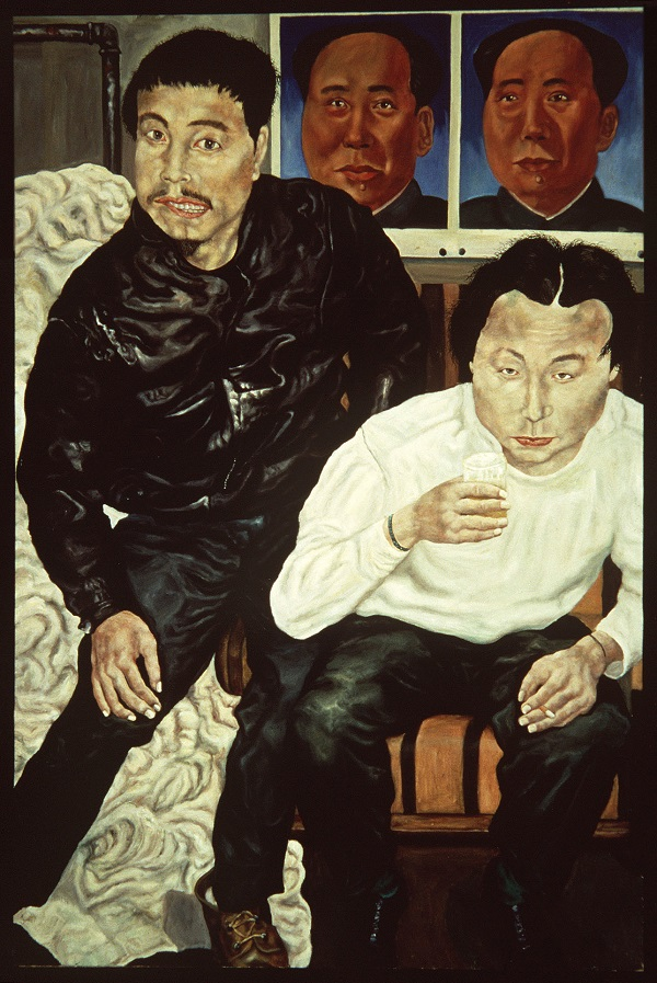 Liu Wei, Two Drunk Painters, 1990, oil on canvas, San Francisco Museum of Modern Art, Gift of Vicki and Kent Logan