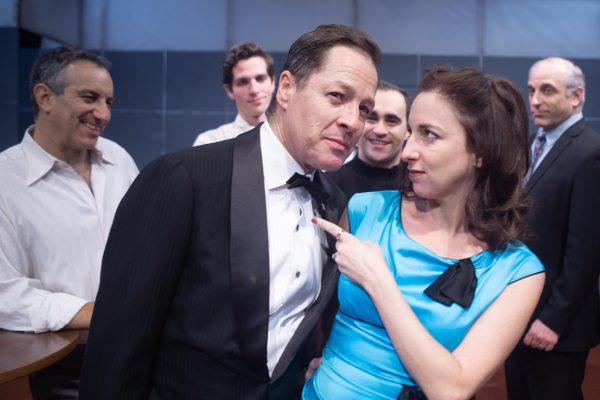 l-r, French Stewart & Vanessa Claire Stewart in Finks at Rogue Machine Theatre.