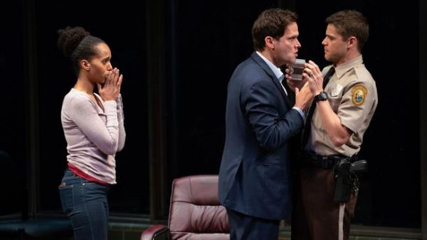 Kerry Washington, Steven Pasquale, and Jeremy Jordan in American Son. Credit: Peter Cunningham