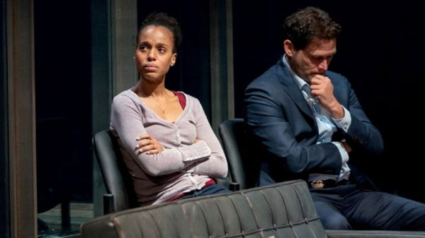 Kerry Washington and Steven Pasquale in American Son. Credit: Peter Cunningham
