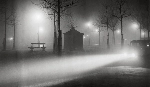 Brassai, Avenue de l'Observatoire in the Fog, c. 1937, Estate Brassai Succession, Paris; (c) Estate Brassai Succession, Paris