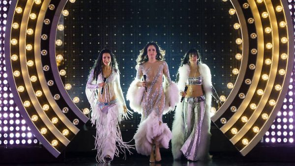 Michaela Diamond, Stephanie J. Block, and Teal Wicks in The Cher Show. Credit: Joan Marcus