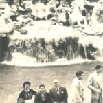 Rick Meghiddo with parents. 1956 - Fontana di Trevi