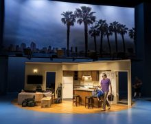 Ian Barford as Wheeler, moving into his San Diego apartment in Linda Vista at Central Theatre Group's Mark Taper Forum.