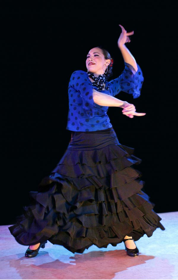 Forever Flamenco's Vanessa Albalos. Photo by Bruce Bisenz.