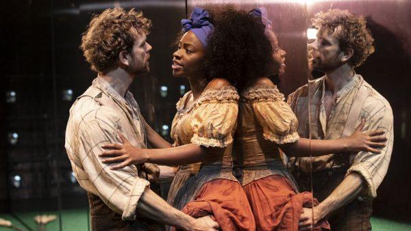 Paul Alexander Nolan and Teyonah Parris in Slave Play. Credit: Joan Marcus