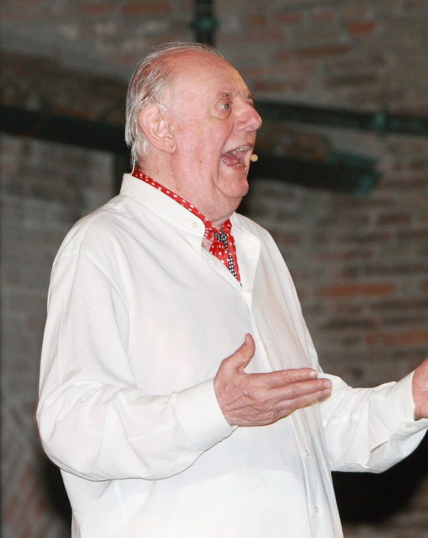 Dario Fo, playwright and author of The Accidental Dear of an Anarchist at The Actors' Gang.