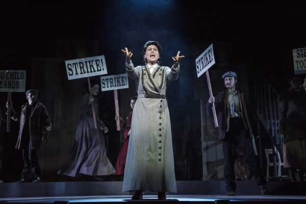 Valerie Perri as Emma Goldman in Ragtime at The Pasadena Playhouse. Photo by Nick Agro.
