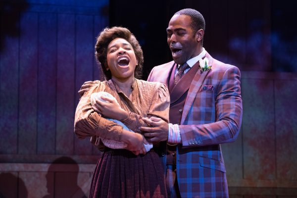 Bryce Charles & Clifton Duncan in Ragtime at The Pasadena Playhouse. Photo by Jenny Graham.