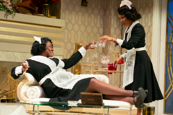 Heather Alicia Simms and Jessica Frances Dukes in By the Way, Meet Vera Stark. Credit: Joan Marcus