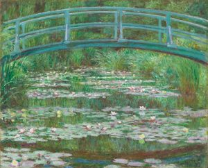 Claude Monet (French, 1840 - 1926), The Japanese Footbridge, 1899, oil on canvas, Gift of Victoria Nebeker Coberly, in memory of her son John W. Mudd, and Walter H. and Leonore Annenberg 1992.9.1