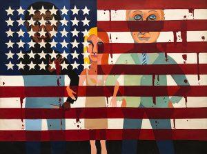 The Flag is Bleeding, 1967, by Faith Ringgold.