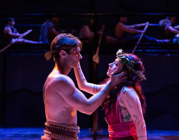 Ty Mayberry & Angela Gulner as Jason & Medea in A Noise Within's production of Argonautika.