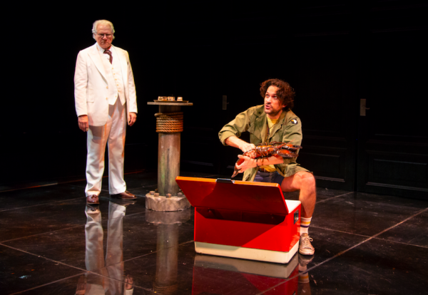 John Larroquette and Will Swenson in Nantucket Sleigh Ride. Credit: T. Charles Erickson