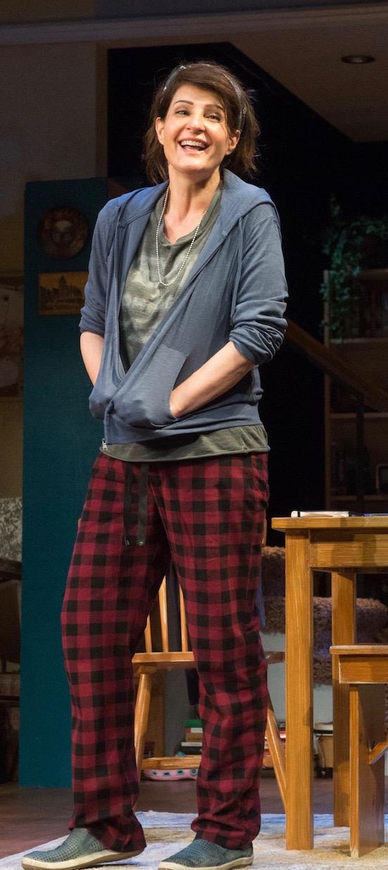 Nia Vardalos in Tiny Beautiful Things at The Pasadena Playhouse.