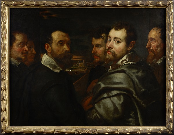 Peter Paul Rubens, Self-Portrait in a Circle of Friends From Mantua, 1602–05, Wallraf-Richartz-Museum & Fondation Corboud, Cologne. Photograph: Sabrina Walz, Rheinisches Bildarchiv Cologne