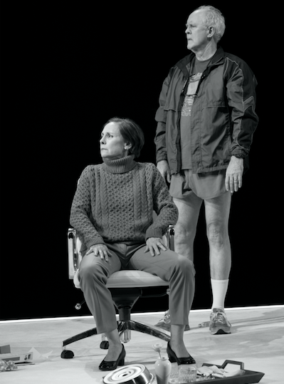 Laurie Metcalf and John Lithgow in Hillary and Clinton. Credit: Julietta Cervantes