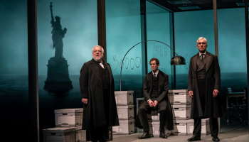 Simon Russell Beale in The Lehman Trilogy. Credit: Stephanie Berger