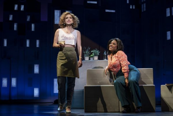 l-r, Audrey Cardwell & Bryonha Marie Parham in Falsettos at The Ahmanson Theatre.