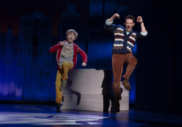 l-r, Thatcher Jacobs & Nick Blaemire in Falsettos at The Ahmanson Theatre.