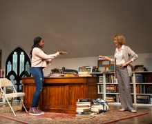l-r, Jordan Boatmen and Lisa Banes in The Niceties at The Geffen Playhouse.