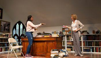 l-r, Jordan Boatmen and Lisa Banes in The Niceties at The Geffen Playhouse.