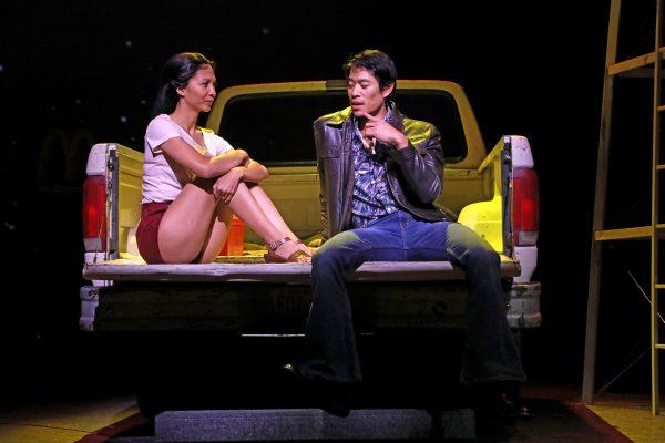 """Maureen Sebastian &Tim Chiou in """"Poor Yella Rednecks"""" at South Coast Rep."""