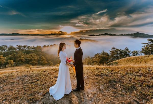 wedding at sunrise