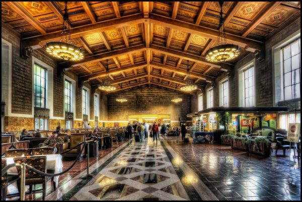 The Los Angeles Union Station is very nice. Not that I am biased, but it is nicer than several others I have visited (Washington DC, St Louis). So many nice photo opportunities in LA. Hope to get out tomorrow to the CicLAvia. ISO 100, 10mm, f6.3, (1/5, 0.8, 3.2). Used a wider aperture than I would normally choose to get a sharper focus because there are so many people walking around and 3 seconds is already a lot. My standard HDR workflow, Photomatix Details Enhancer, Imagenomic, Smart Sharpen, Lens Distortion, Freaky Details, Nik Pro Contrast, Lighten/Darken Center.