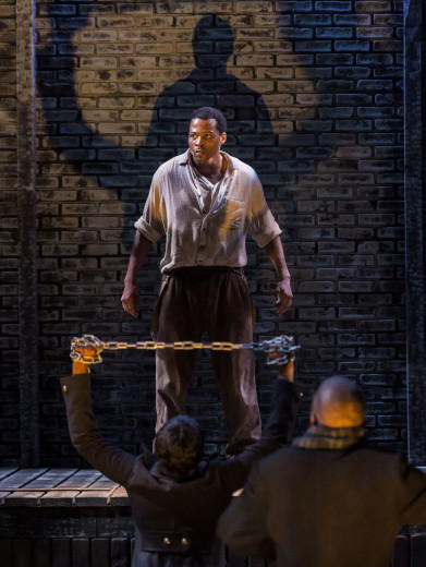 Jon Chaffin as Bigger in the Antaeus Theatre com[any's production of Native Son.
