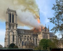 Notre Dam burning. Image: By Wandrille de Préville via Creative Commons License.