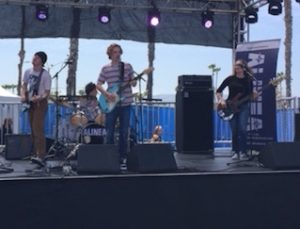 Local band Alinea performs at BeachLife Music Festival.