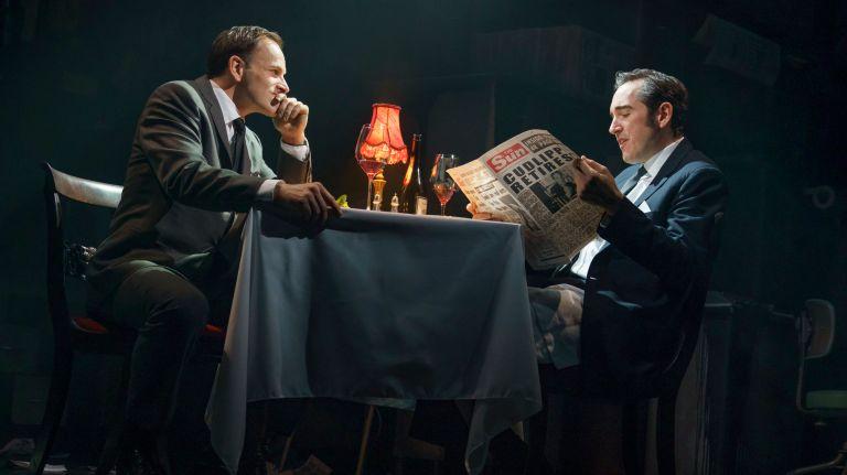 Johnny Lee Miller and Bertie Carvel in INK. Credit: Joan Marcus
