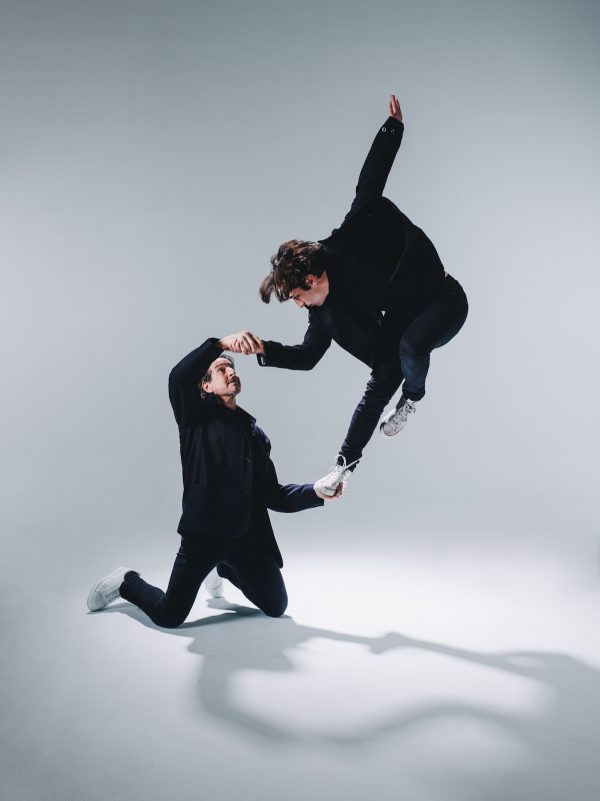 "Daniel Ezralow and Jacob Jonas in ""viceversa"". Photo by Matthew Brush."