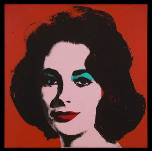 Andy Warhol, Liz #6 (Early Colored Liz), 1963, acrylic and silkscreen ink on linen. San Francisco Museum of Modern Art, fractional purchase and bequest of Phyllis C. Wattis, (c) The Andy Warhol Foundation for the Visual Arts Inc. / Artist Rights Society (ARS), New York.