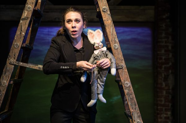 Rachel Weck in the 24th Street Theatre's The Miraculous Journey of Edward Tulane.