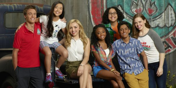 "BUNK'D - Disney Channel's ""Bunk'd"" stars Kevin G. Quinn as Xander, Nina Lu as Tiffany, Peyton List as Emma, Skai Jackson as Zuri, Nathan Arenas as Jorge, Karan Brar as Ravi and Miranda May as Lou. (Disney Channel/Bob D'Amico)"