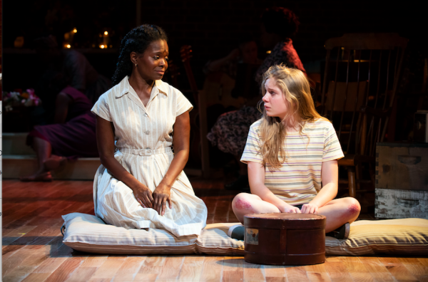 LaChanze and Elizabeth Teeter in The Secret Life of Bees. Credit: Ahron R. Foster