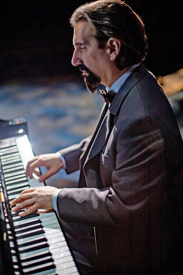 Hershey Felder as Claude Debussy at the Wallis Center for the Performing Arts.