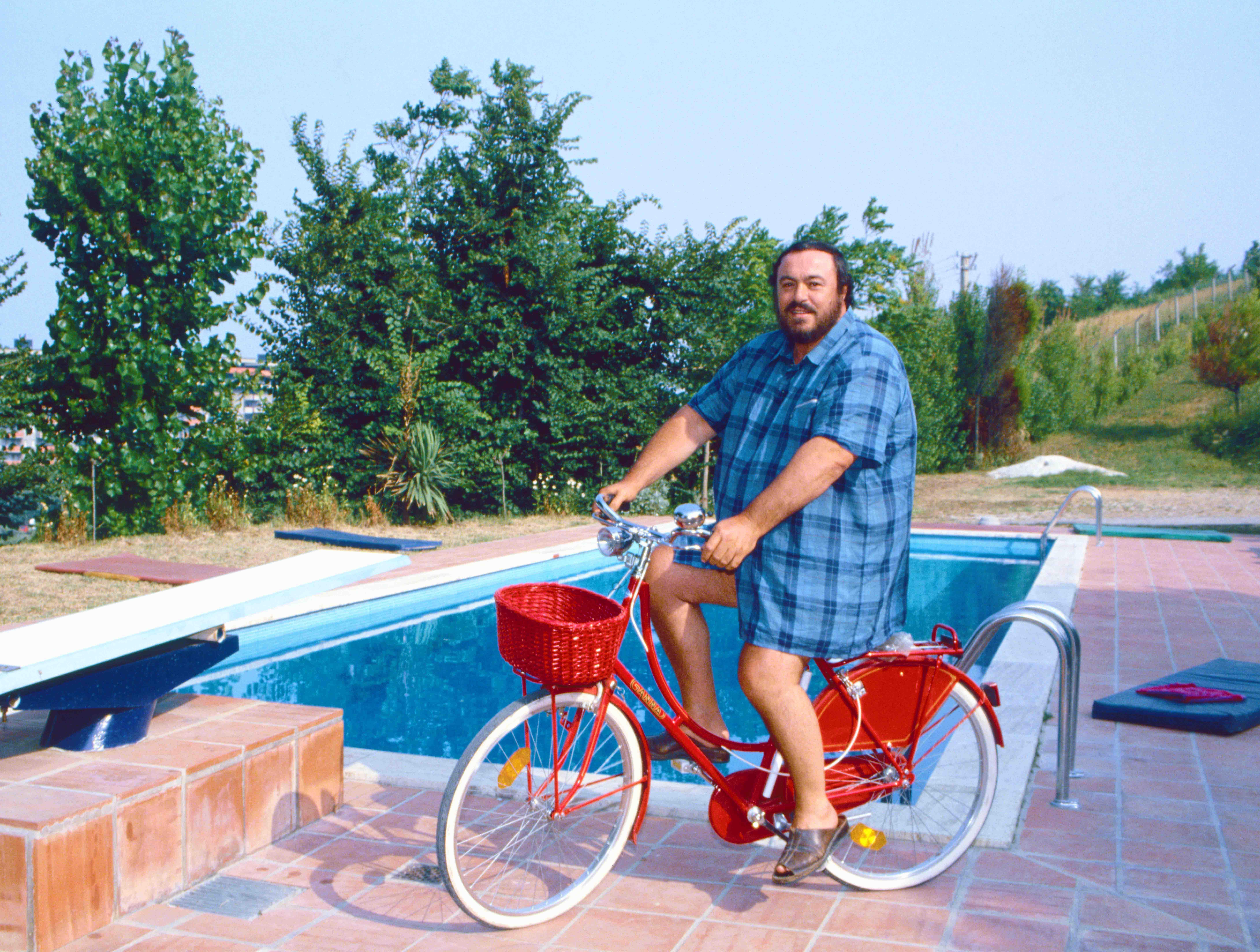 Luciano Pavarotti, Pesaro (c) Elisa Leonelli 1985
