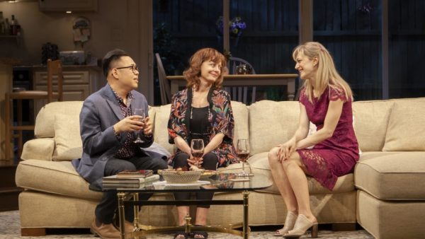 Nico Santos, Susan Sarandon, and Marin Ireland in Happy Talk, Credit: Monique Carboni