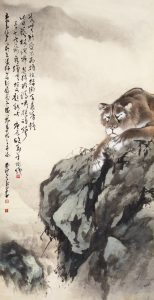 "Au Ho-nien and Chao Shao-an, (ITAL) ""Lion Companionship,"" 1963, ink and colors on paper, collection of Yicui Shantang, (c) Au Ho-nien."
